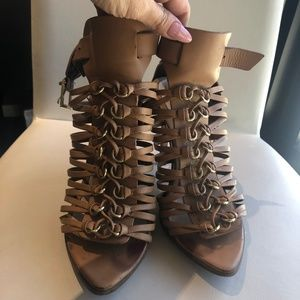 Aldo Tan Strappy Heels